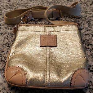 Coach purse gold